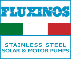 Fluxinos, solar pumps, centrifugal pumps, self priming pumps, manual pumps, ball valves